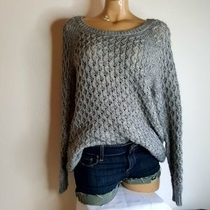 H&M Gray loose knit chunky oversized sweater S